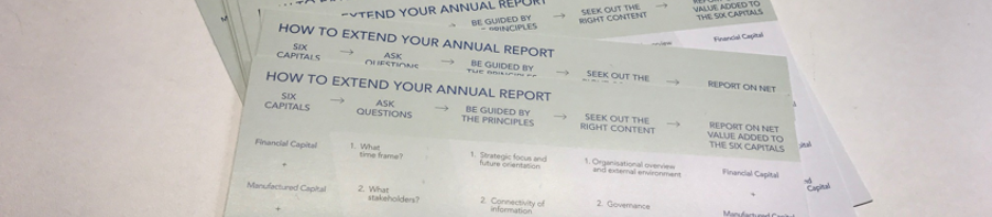 How to extend your annual report