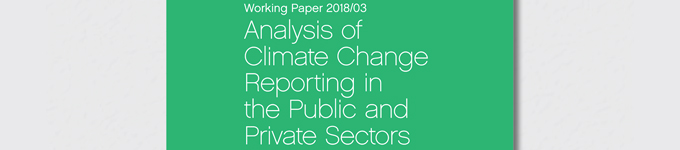 Working Paper 2018/03 – Analysis of Climate Change Reporting in the Public and Private Sectors now published, demonstrating low levels of climate change reporting