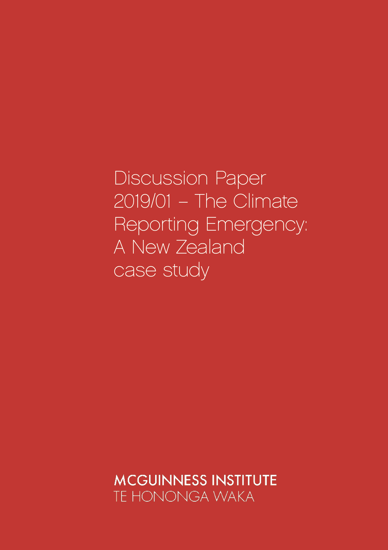 Cover of Discussion Paper 2019/01